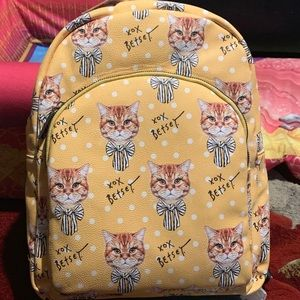 Betsey Johnson Cat Backpack